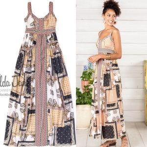 Matilda Jane Women's Perfectly Paisley Maxi Dress